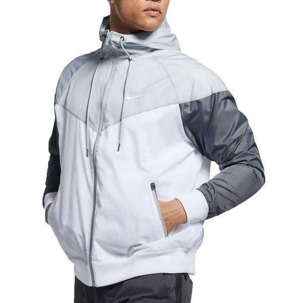 ナイキ メンズ ジャケット&ブルゾン アウター Nike Men's Sportswear 2019 Hooded Windrunner Jacket (Regular and Big & Tall) Wht/WlfGry/DrkGry/Wht