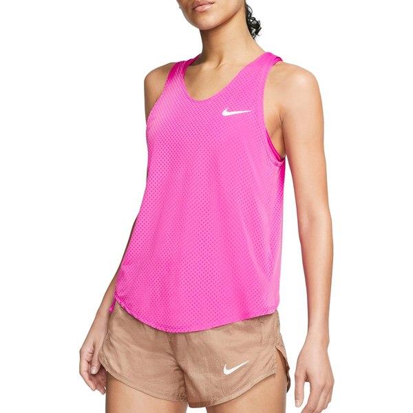 ナイキ レディース シャツ トップス Nike Women's Miler Breathe Tank Top FirePink