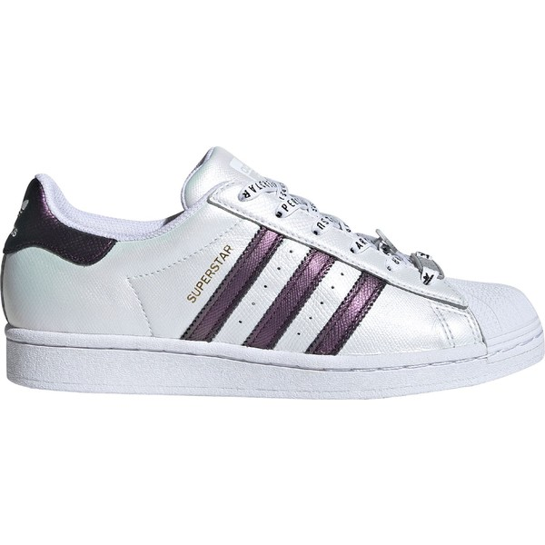 アディダス レディース スニーカー シューズ adidas Women's Superstar Iridescent Shoes White/Purple