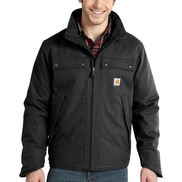 カーハート メンズ ジャケット&ブルゾン アウター Carhartt Men's Quick Duck Jefferson Traditional Jacket (Regular and Big & Tall) Black