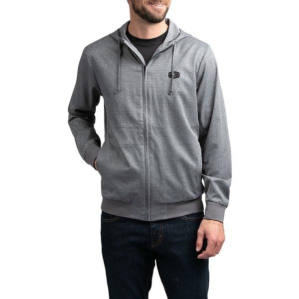 トラビスマヒュー メンズ シャツ トップス TravisMathew Men's Modus Operandi Golf Sweatshirt HeatherGreyPinstripe