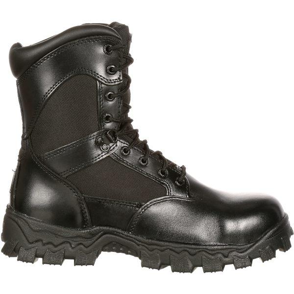 ロッキー メンズ ブーツ&レインブーツ シューズ Rocky Men's AlphaForce 8'' Waterproof Composite Toe Work Boots Black