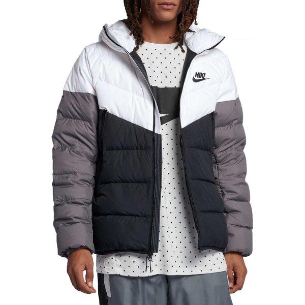 ナイキ メンズ ジャケット&ブルゾン アウター Nike Men's Sportswear Windrunner Down Jacket White/Black/Gunsmoke/Blk