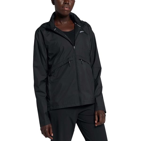 ナイキ レディース ジャケット&ブルゾン アウター Nike Women's Essential Hooded Running Jacket Black