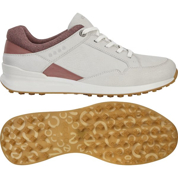 エコー レディース ゴルフ スポーツ ECCO Women's Street Retro Golf Shoes Quarry/White