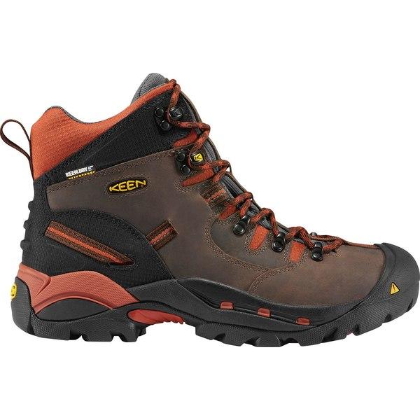 キーン メンズ ブーツ&レインブーツ シューズ KEEN Men's Pittsburgh Mid Waterproof Work Boots CascadeBrown