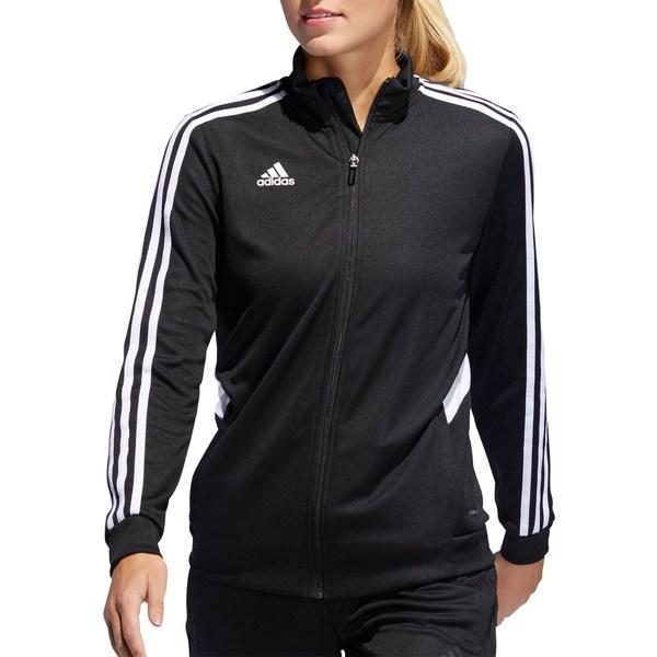 アディダス レディース ジャケット&ブルゾン アウター adidas Women's Tiro 19 Track Jacket Black/White
