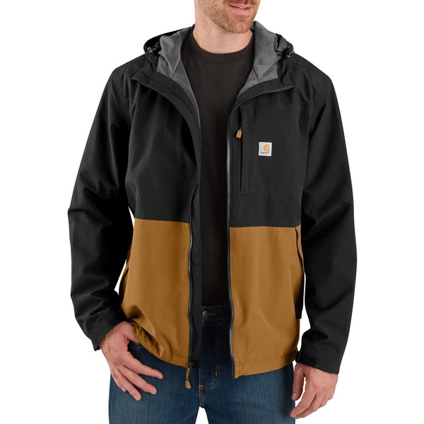 カーハート メンズ ジャケット&ブルゾン アウター Carhartt Men's Storm Defender Hooded Jacket Black/CarharttBrown