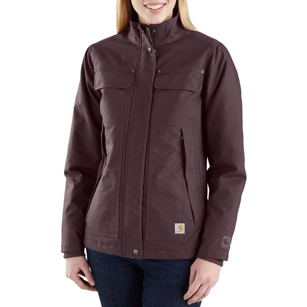 カーハート レディース ジャケット&ブルゾン アウター Carhartt Women's Quick Duck Jefferson Traditional Jacket DeepWine