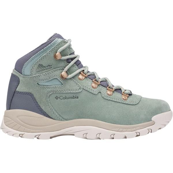 コロンビア レディース ブーツ&レインブーツ シューズ Columbia Women's Newton Ridge Plus Amped Waterproof Hiking Boots LightLichen/CanvasTan