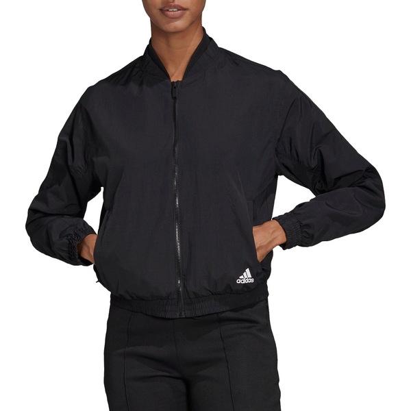 アディダス レディース ジャケット&ブルゾン アウター adidas Women's Woven Bomber Jacket Black