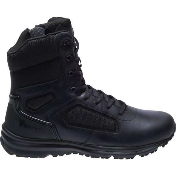 ベイツ メンズ ブーツ&レインブーツ シューズ Bates Men's Raide Side Zip Work Boots Black