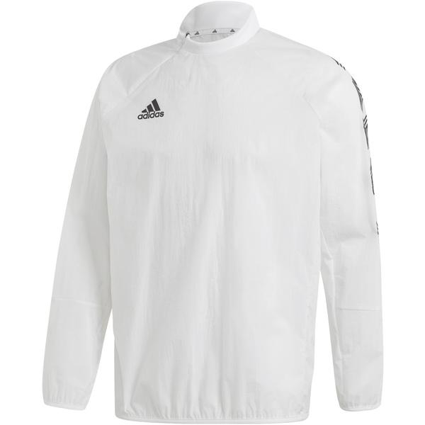 アディダス メンズ ジャケット&ブルゾン アウター adidas Men's Tan Light Woven Piste Pullover White