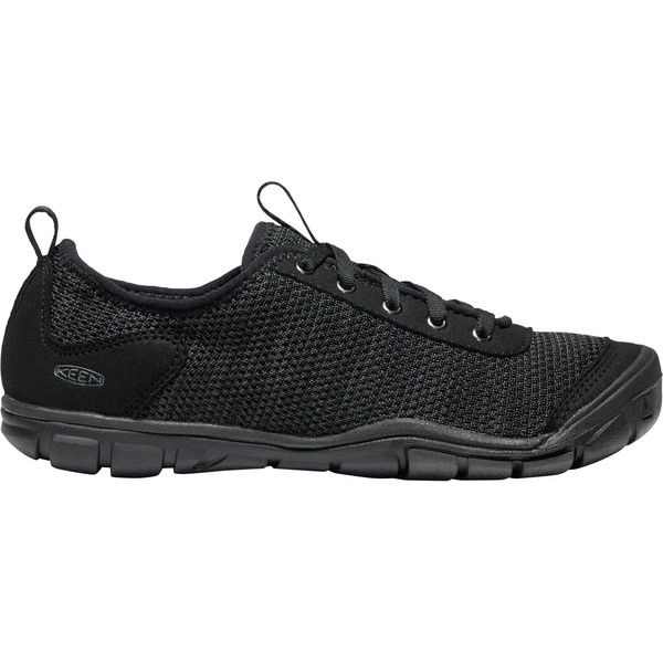 キーン レディース スニーカー シューズ KEEN Women's Hush Knit CNX Casual Shoes Black/Raven