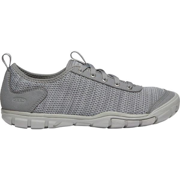 キーン レディース スニーカー シューズ KEEN Women's Hush Knit CNX Casual Shoes SteelGrey