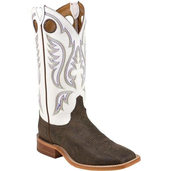 ジャスティンブーツ メンズ ブーツ&レインブーツ シューズ Justin Men's Chocolate Bisonte Bent Rail Western Boots Brown
