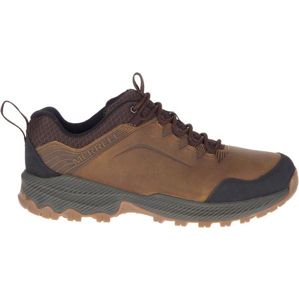 メレル メンズ ブーツ&レインブーツ シューズ Merrell Men's Forestbound Low Waterproof Hiking Shoes MerrellTan