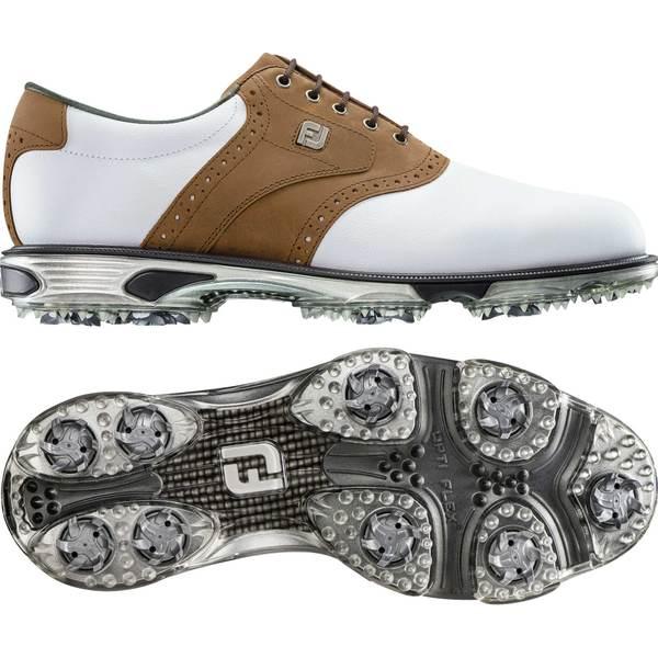 FootJoy メンズ スポーツ 日本製 本物 ゴルフ White Tan 全商品無料サイズ交換 フットジョイ Tour Golf Saddle Shoes DryJoys