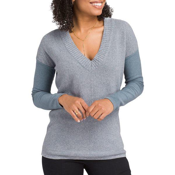 プラーナ レディース シャツ トップス prAna Women's Cedros Sweater Tunic BlueNote