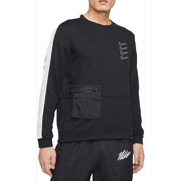 ナイキ メンズ パーカー・スウェットシャツ アウター Nike Men's Dri-FIT Fleece Training Top Black/White/Black/White