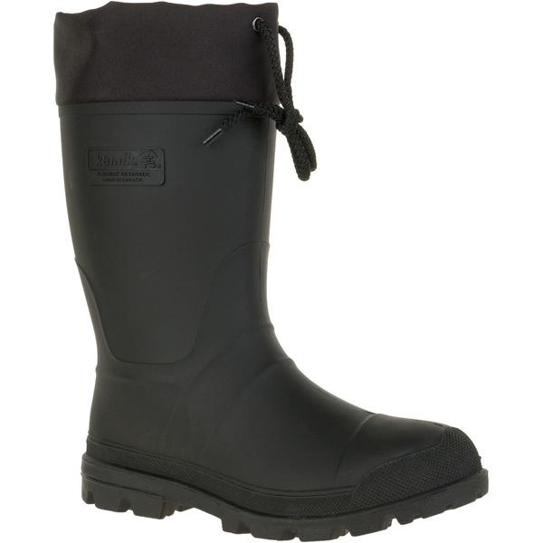 カミック メンズ ブーツ&レインブーツ シューズ Kamik Men's Icebreaker Insulated Rubber Work Boots Black