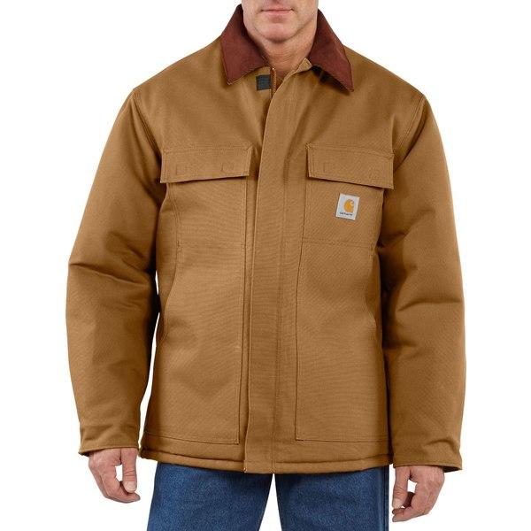 カーハート メンズ ジャケット&ブルゾン アウター Carhartt Men's Traditional Arctic Quilt-Lined Duck Coat CarharttBrown