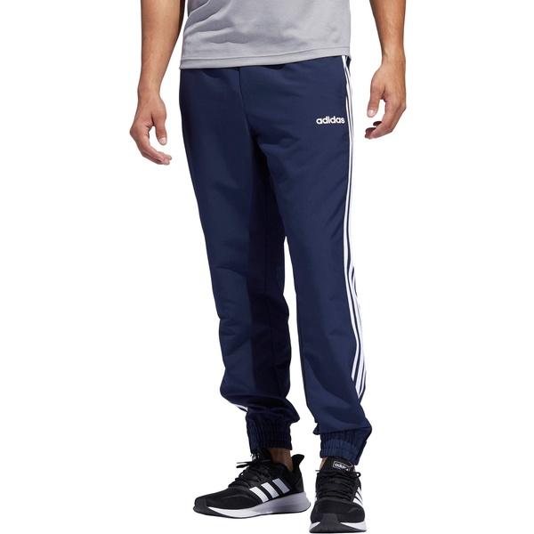 アディダス メンズ カジュアルパンツ ボトムス adidas Men's Essential 3-Stripe Jogger Blue/White