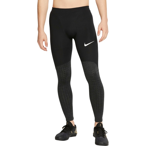 ナイキ メンズ カジュアルパンツ ボトムス Nike Men's Pro Utility Therma Tights Black/Black/White