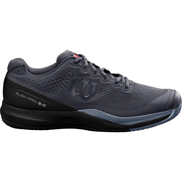 ウィルソン メンズ テニス スポーツ Wilson Men's Rush Pro 3.0 Tennis Shoes Black/Red