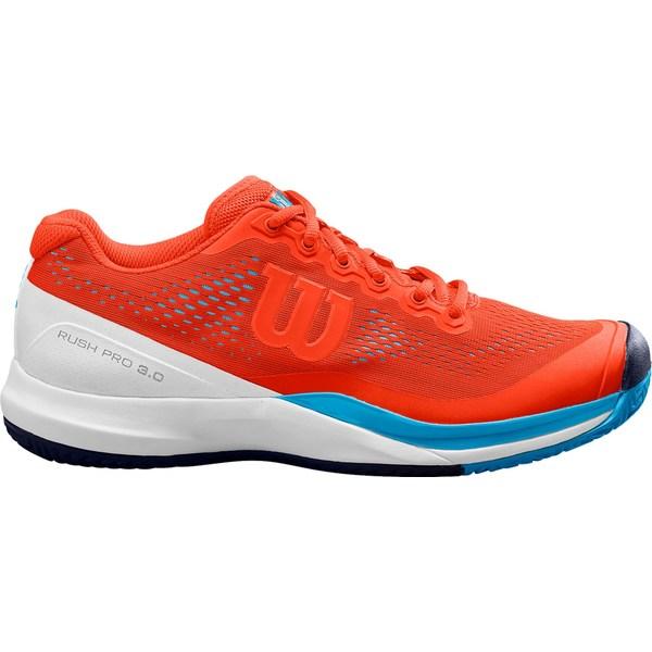 ウィルソン メンズ テニス スポーツ Wilson Men's Rush Pro 3.0 Tennis Shoes Orange/Blue