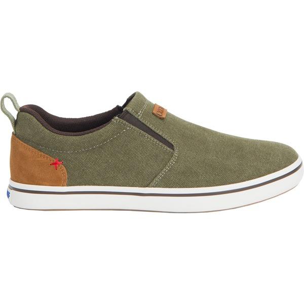 エクストラタフ メンズ スニーカー シューズ XTRATUF Men's Sharkbyte Canvas Casual Shoes Olive