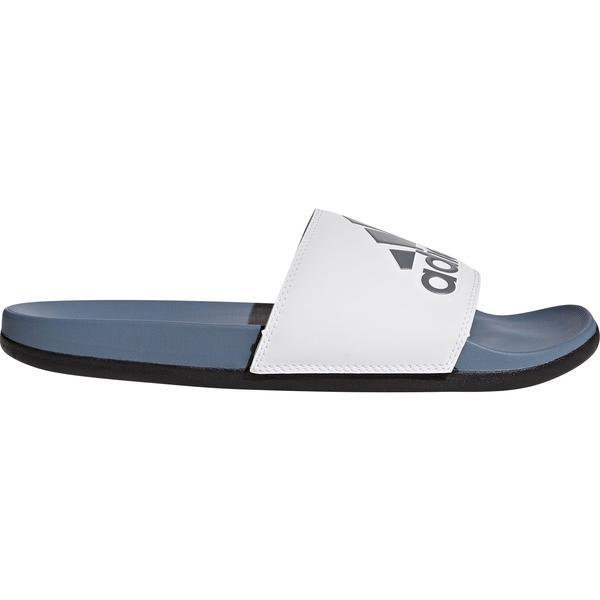 アディダス メンズ サンダル シューズ adidas Men's Adilette CloudFoam Plus Slides Blue/White
