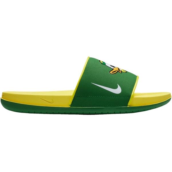 ナイキ メンズ サンダル シューズ Nike Men's Oregon Offcourt Slides Green/Yellow