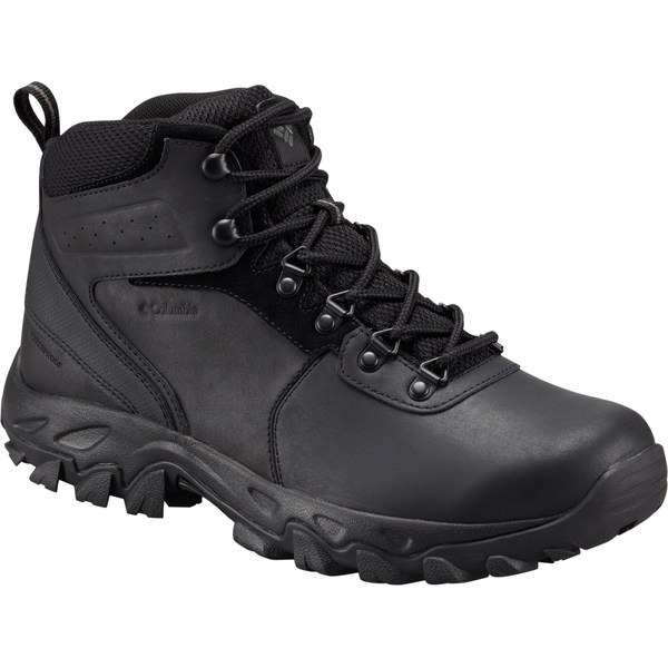 コロンビア メンズ ブーツ&レインブーツ シューズ Columbia Men's Newton Ridge Plus II Waterproof Hiking Boots Black/Black