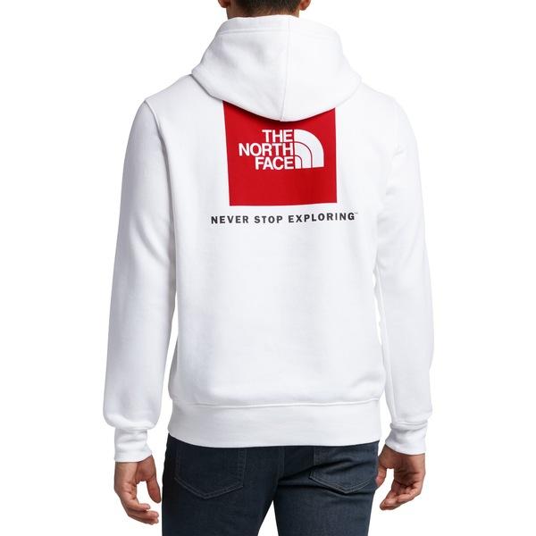 ノースフェイス メンズ パーカー・スウェットシャツ アウター The North Face Men's Red Box Pullover Hoodie TnfWhite/TnfRed