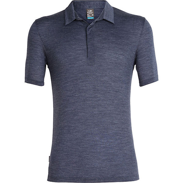 アイスブレーカー メンズ シャツ トップス Icebreaker Men's Solace SS Polo Midnight Navy Heather