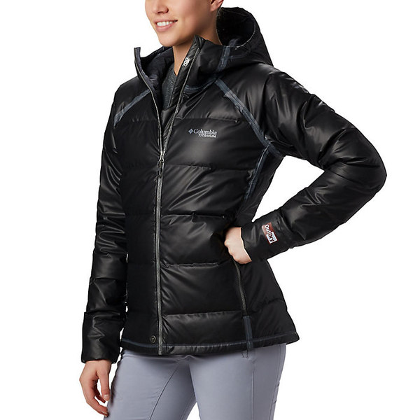 コロンビア レディース ジャケット&ブルゾン アウター Columbia Women's Titanium Outdry Ex Alta Peak Down Jacket Black Heather