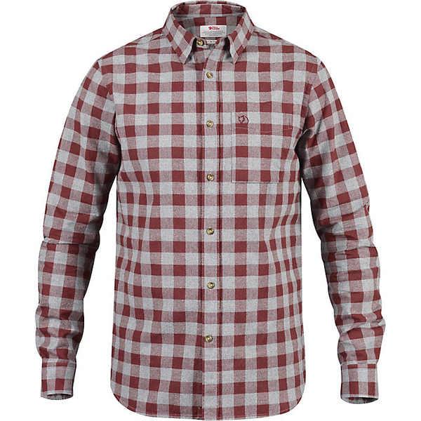 フェールラーベン メンズ シャツ トップス Fjallraven Men's Ovik Check LS Shirt Red Oak