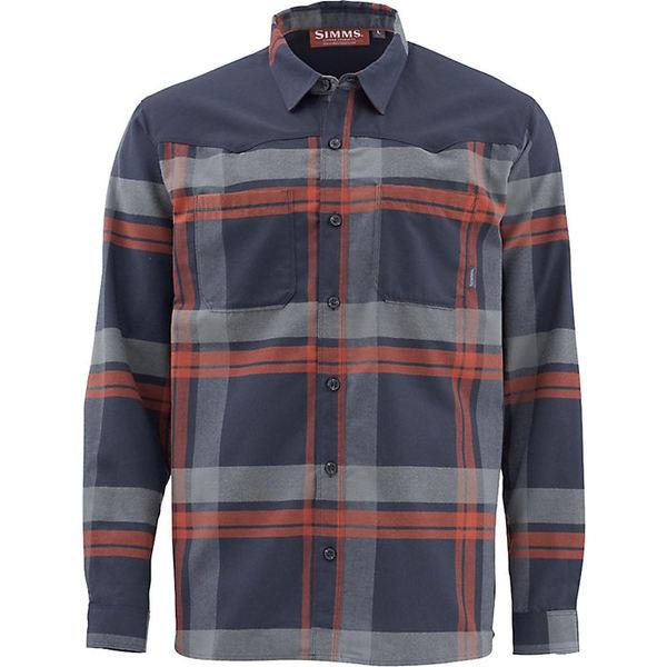 シムズ メンズ シャツ トップス Simms Men's Blacks Ford Flannel LS Shirt Admiral Blue Plaid
