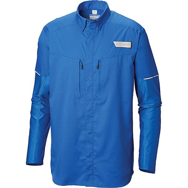 コロンビア メンズ シャツ トップス Columbia Men's Force XII Zero LS Hybrid Shirt Vivid Blue