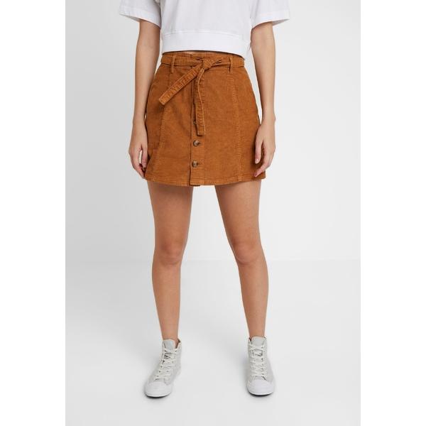 アメリカンイーグル レディース ボトムス 入手困難 スカート chestnut 超歓迎された 全商品無料サイズ交換 ALINE SKIRT EXPOSED WITH skirt rhjm025c Mini - BUTTON