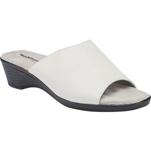 ウォーキング クレイドル レディース サンダル シューズ Kerry Slide Sandal White Leather