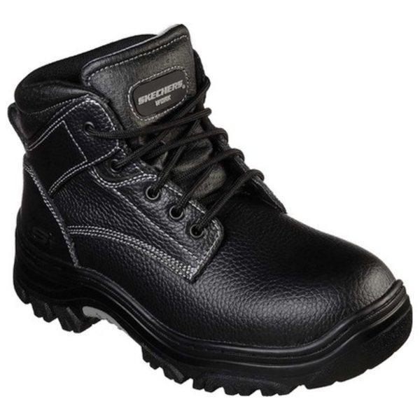 スケッチャーズ メンズ ブーツ&レインブーツ シューズ Work Relaxed Fit Burgin Congaree Boot Black