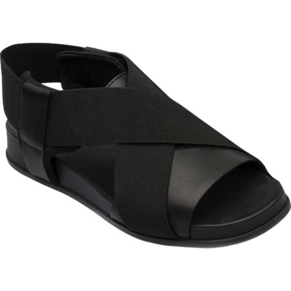 カンペール レディース スニーカー シューズ Atonik Sandal Black Full Grain Leather/Technical Fabric