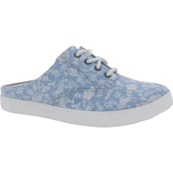 ドリュー レディース オックスフォード シューズ Sunstone Slip On Sneaker Blue/White Canvas
