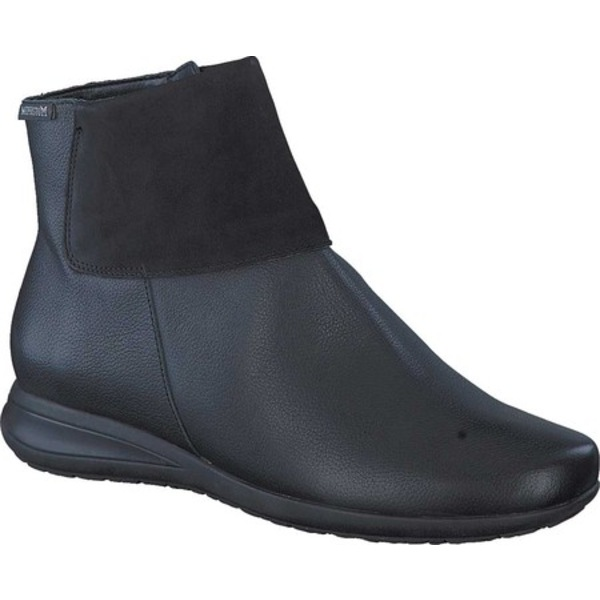 メフィスト レディース ブーツ&レインブーツ シューズ Nonie Ankle Boot Black/Black Empire/Bucksoft Nubuck/Smooth Leather