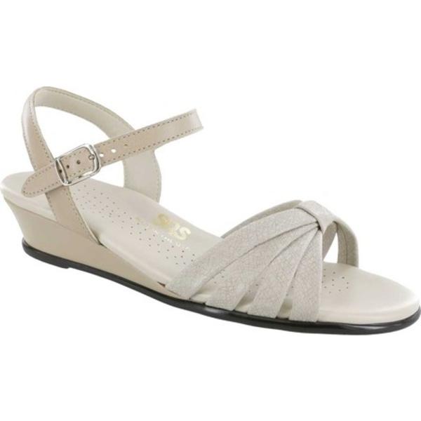 エスエーエス レディース サンダル シューズ Strippy Quarter Strap Wedge Sandal Linen Web Leather