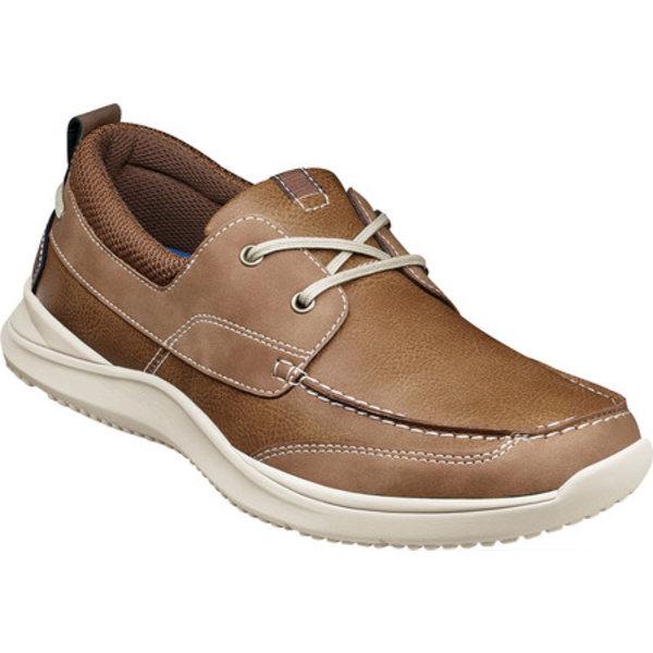 ノンブッシュ メンズ デッキシューズ シューズ Conway Moc Toe Boat Oxford Tan Leather