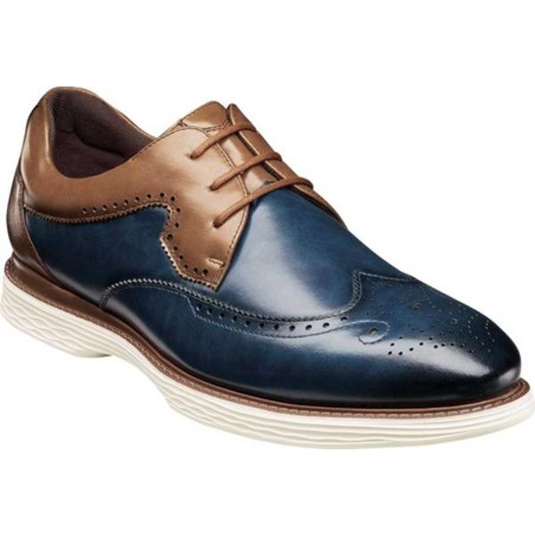ステイシーアダムス メンズ ドレスシューズ シューズ Regent Wing Tip Oxford Ink Blue Multi Burnished Smooth Leather