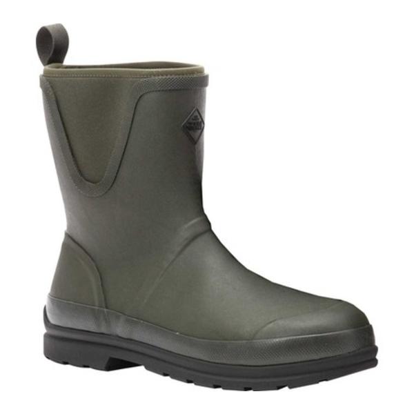 ムックブーツ メンズ ブーツ&レインブーツ シューズ Muck Originals Pull On Mid Waterproof Boot Moss